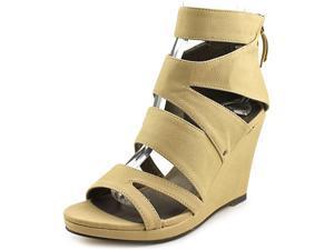 Michael Antonio Allura Women US 7.5 Nude Wedge Heel
