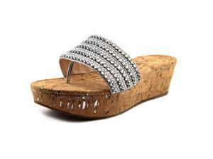 Pelle Moda Karson Women US 10 Silver Wedge Sandal