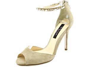 Nina Maraya Women US 8 Tan Peep Toe Heels