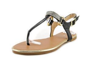 Qupid Gem 01 Women US 6 Black Flip Flop Sandal