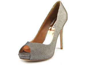 Badgley Mischka Kassidy II Women US 9.5 Gold Peep Toe Heels