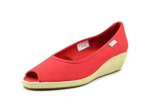 Keen Cortona Wedge CVS Women US 7.5 Red Peep Toe Wedge Heel UK 5 EU 38