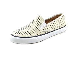 Sperry Top Sider Seaside Perforated Women US 10 White Sneakers UK 7.5