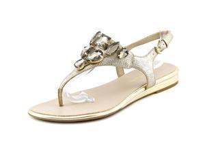 Franco Sarto Galileo Women US 7.5 Gold Thong Sandal