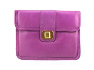 Juicy Couture Yrsu2140 Women Purple Clutch NWT