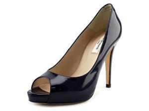 L.K. Bennett Nina  Women US 6.5 Blue Peep Toe Heels