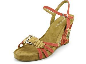Aerosoles Plush Around Women US 8 Pink Open Toe Wedge Sandal