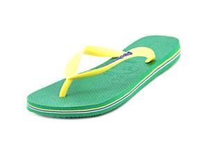 Havaianas Brasil Logo Men US 7 Green Flip Flop Sandal EU 41