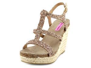 Betsey Johnson Skylir Women US 8.5 Gold Wedge Sandal