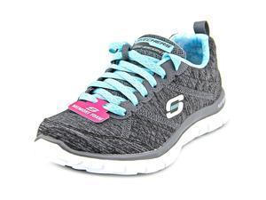 Skechers Flex Appeal Pretty City Women US 5.5 Black Sneakers