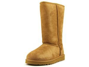 Ugg Australia Classic Tall Youth Girls Size 1 Brown Boots Snow Suede Snow Boots