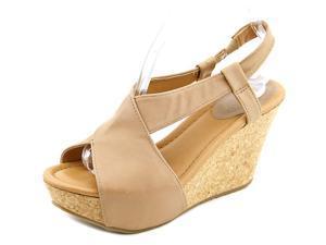Kenneth Cole Reactio Sole Cross Women US 9.5 Tan Wedge Heel