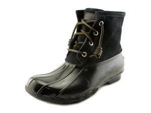 Sperry Top Sider Saltwater Women US 6 Black Rain Boot UK 3.5 EU 36