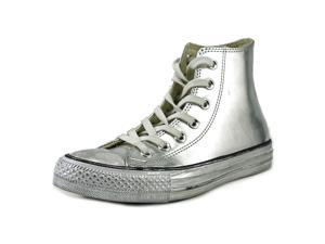 Converse Chuck Taylor Chrome Hi Women US 6 Silver Sneakers