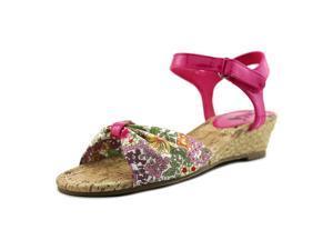 Mia Kids Eden Youth US 1 Pink Wedge Sandal