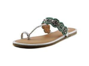 Yellow Box Jamaica Women US 8.5 Silver Thong Sandal