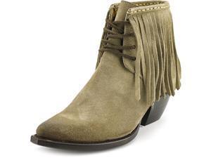 Frye Sacha Fringe Chukka Women US 6.5 Gray Apron Chukka Boot