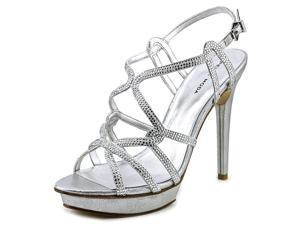 Pelle Moda Flirt Women US 9.5 Silver Platform Sandal