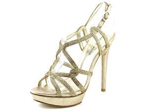 Pelle Moda Flirt Women US 7.5 Gold Platform Sandal