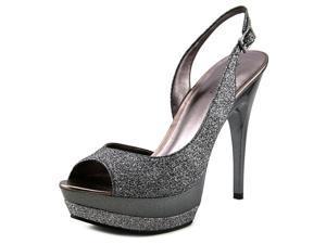 Pelle Moda Gleam Women US 8.5 Silver Peep Toe Platform Heel