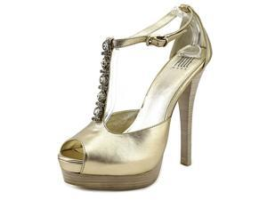 Pelle Moda Rae Women US 10 Gold Peep Toe Platform Heel
