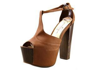 Jessica Simpson Dany Women US 10 Tan Peep Toe Platform Heel