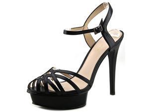 Pelle Moda Meadow Women US 6 Black Platform Sandal