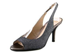 Pelle Moda Giana-Tx Women US 5.5 Silver Peep Toe Slingback Heel