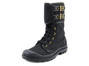 Palladium Pampa Peloton TW Zip Women US 6 Black Mid Calf Boot
