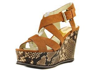 Michael Michael Kors Celia Mid Wedge Women US 9 Tan Wedge Sandal