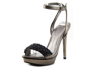 Pelle Moda Filia Women US 7.5 Silver Platform Sandal