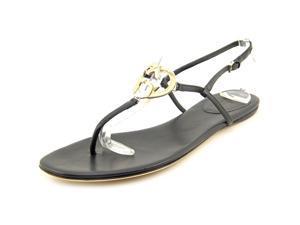 Gucci Nappa Moorea T-Strap sandal Women US 9.5 Black Sandals UK 7