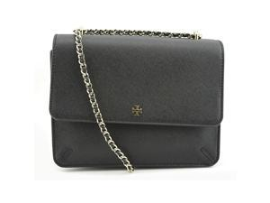 Tory Burch Robinson Convertible Shoulder Women Black Shoulder Bag NWT