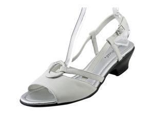 Easy Street Eileen Women US 10 W White Slingback Sandal