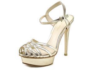 Pelle Moda Meadow Women US 8.5 Gold Platform Sandal