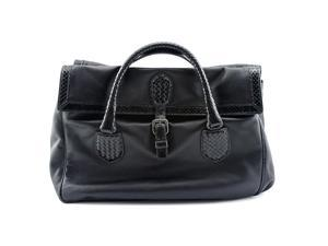 Bottega Veneta New Satchel w/Snake Women Black Satchel