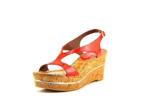 Donald J Pliner Delon Women US 9.5 Red Wedge Sandal