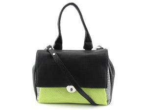 Milly Wythe Mixed Media Flap Convertible Top Handle Bag Women Black