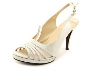 Beacon Sparkle Women US 9.5 W Silver Peep Toe Slingback Heel