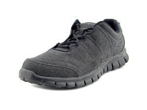 Propet Mclean Canvas Tie Men US 11.5 3E Black Sneakers