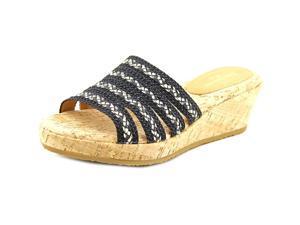 Eric Javits New York Squish Women US 8.5 W Black Wedge Sandal