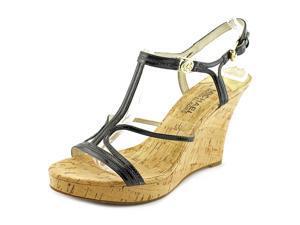 Michael Michael Kors Cicely Wedge Women US 7 Black Wedge Sandal