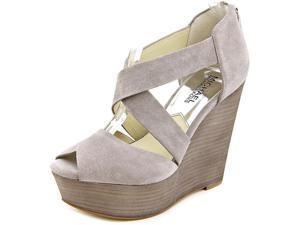Michael Michael Kors Ariel Wedge Women US 8 Gray Wedge Heel