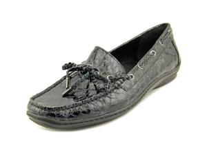 Donald J Pliner Lacey Women US 10 Black Moc Loafer