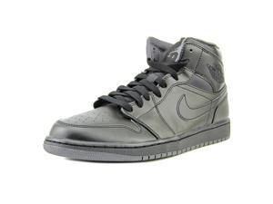 Nike Air Jordan 1 Mid Men US 9 Black Basketball Shoe