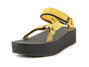 Teva Flatform Universal Women US 6 W Gold Wedge Sandal