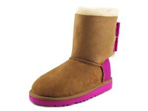 Ugg Australia K Bailey Bow Wool Youth US 1 Multi Color Winter Boot