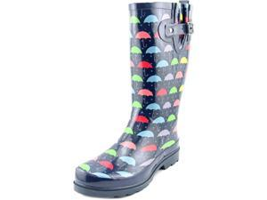 Western Chief Umbrella Days Women US 8 Blue Rain Boot