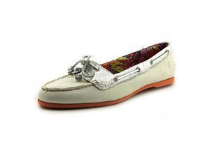Sperry Top Sider Audrey Women US 7 White Moc Flats