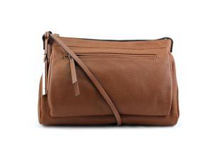 Kenneth Cole Reaction Pied Piper Crossbody Women Brown Messenger